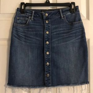 Abercrombie & Fitch Button Down Denim Skirt